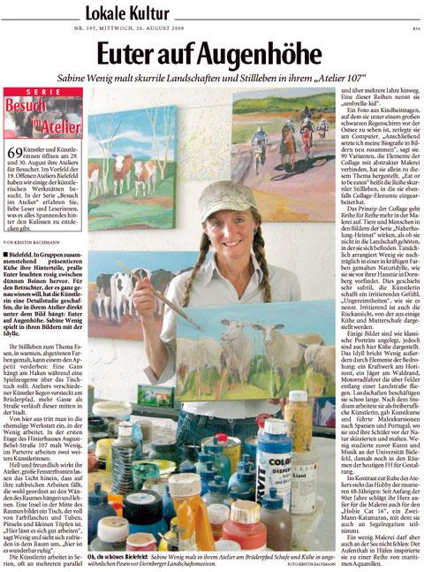 Euter auf Augenhöhe - Sabine Wenig malt skurrile Landschaften und Stilleben