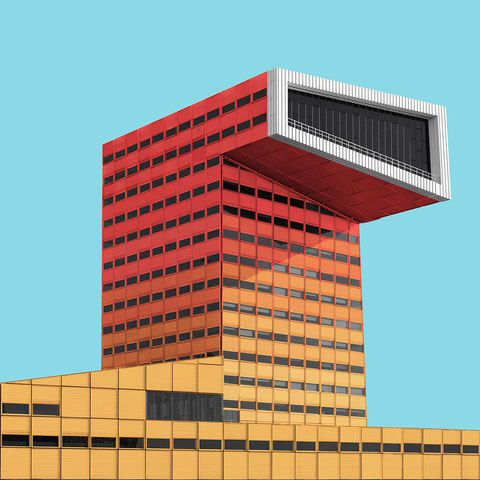 STC collage Rotterdam Netherlands colorful architecture minimal facade design