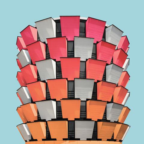 office towers Riccardo blumer cinisello Balsamo milano colorful architecture photography minimal facade design