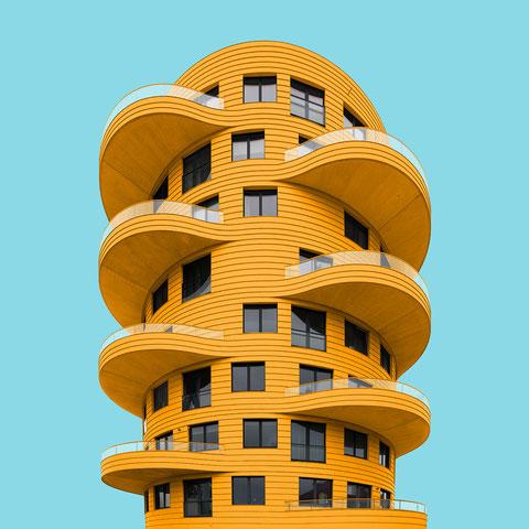 Torenappartementen Meyster's Buiten Zecc Architecture Utrecht Netherlands colorful architecure minimal facade design yellow