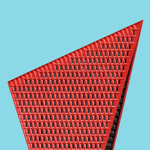 Stadskantoor Leyweg Den Haag rudy uytenhaak + partners architecten  modern architecture photography colorful facade design inspiration