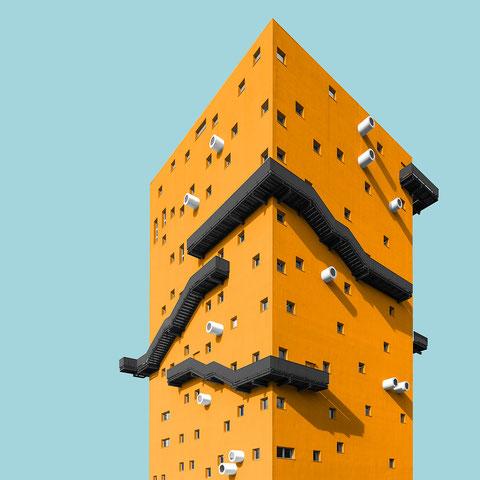 IULM 6 milano italy colorful architecture minimal facade design black yellow