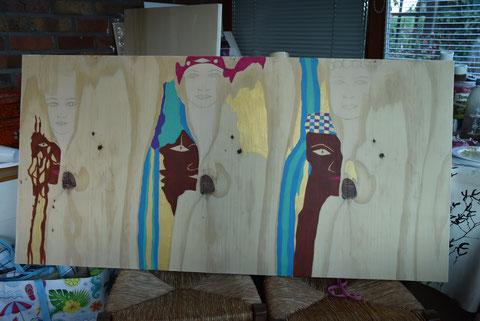 Ce 17 juillet , nouveau projet de peinture ( 61cm/ 121cm )