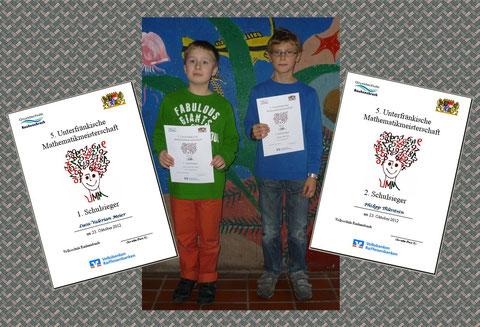 Luca und Philipp von der Volksschule Rauhenebrach