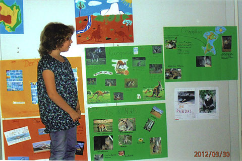 """Tina mit interessanten Informationen zum Thema """"Känguru"""""""