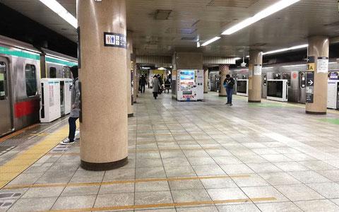 とうとう渋谷駅にもホームドアが…。(試験運用中で開閉はされていません)