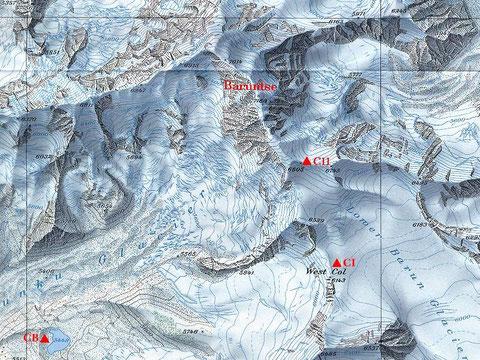 Baruntse Map
