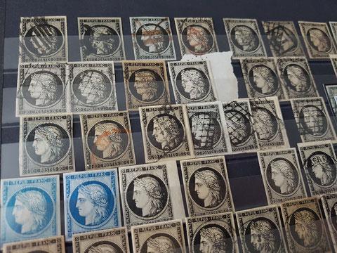 """Timbres détachés de la collection """"Ceres"""" divisée en 44 lots"""