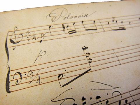 Полонез Огинского, антикварные рукописные ноты