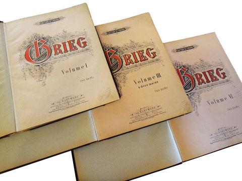 Григ, сочинения для фортепиано в 2 руки, обложки