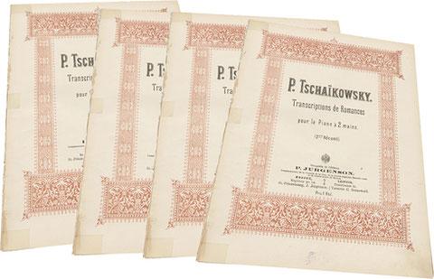 Десять романсов Чайковского в транскрипциях для фортепиано в 2 руки