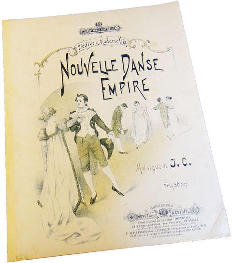 Антикварные ноты для фортепиано, вальс Империя