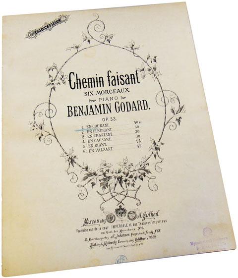 Парижские прогулки, фортепианные пьесы Бенжамена Годара, обложки нот