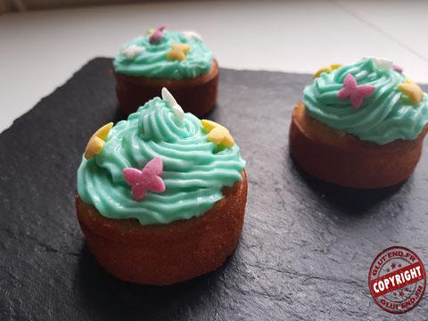 recette cupcake vanille à la confiture sans gluten sans lactose