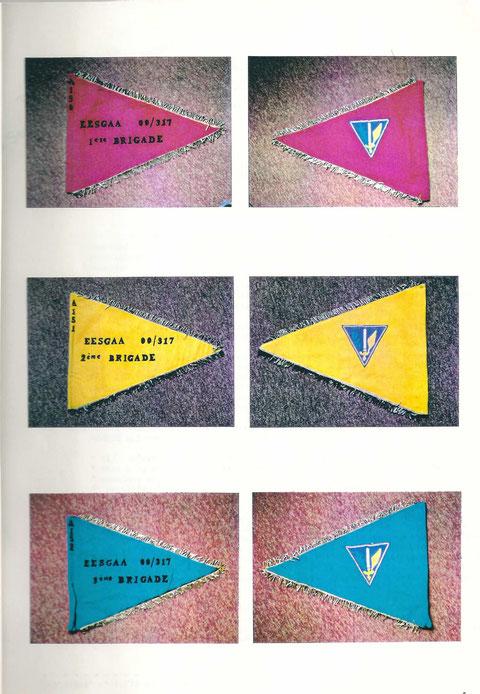 Les fanions des 3 Brigades