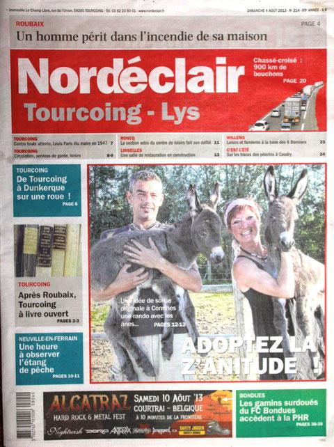 couverture Nord Eclair août 2013