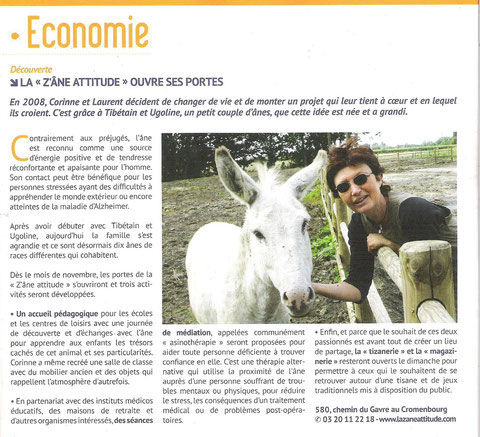 article paru dans le magazine de Comines