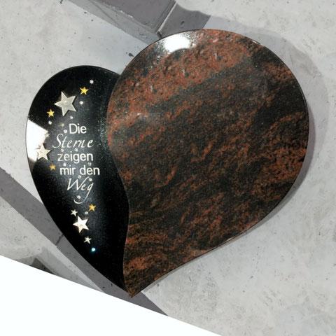 Herz mit Sternen  Rokstyle