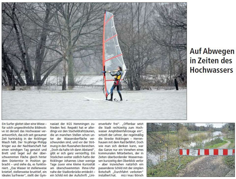 HAZ newspaper article - 07.02-2008