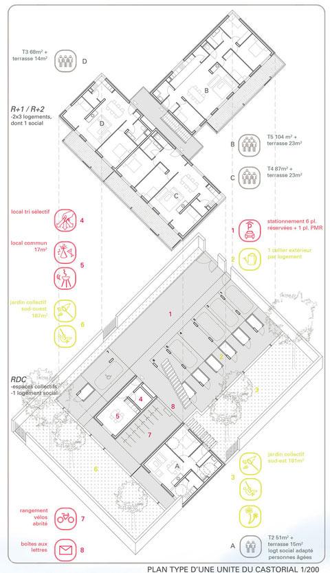 Axonométrie des logements