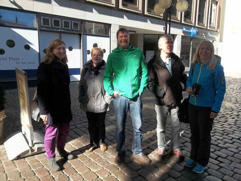 Besuch des ehemaligen Lehrers Norbert Stangneth