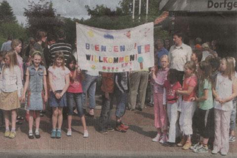 Immer wieder herzlich werden die französischen Freunde in Neuenkirchen begrüßt.