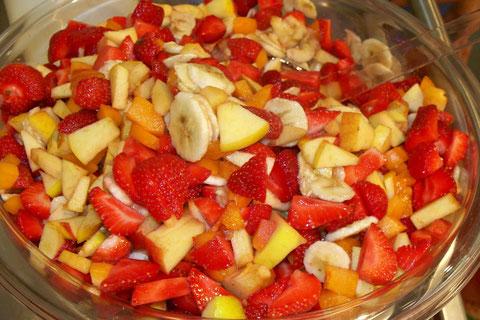 Das Obst ist rechtzeitig vorbereitet ...