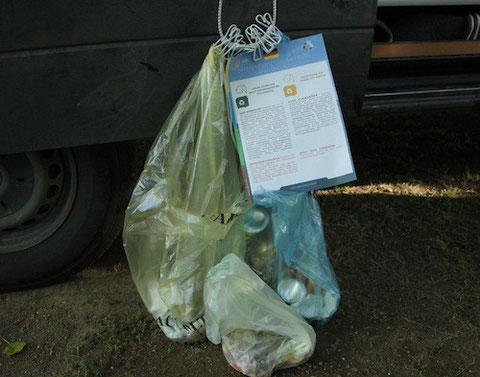 Unsere Müllbeutel inklusive Befüll-Anleitung