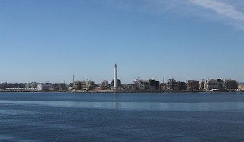 Blick auf Bari