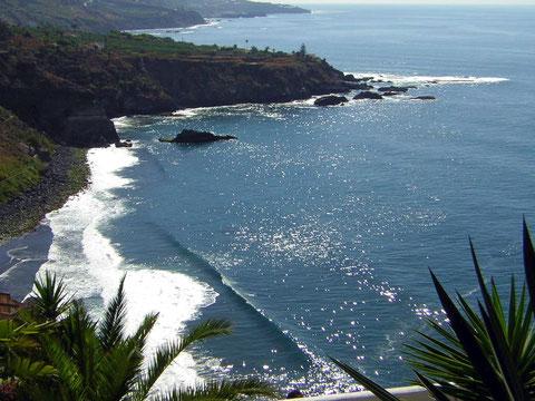 Bild:Ansicht der Nordküste von Teneriffa wo traumhafte Finkas zu mieten sind.