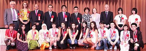 深見東州 半田晴久 第11回 高校生国際美術展表彰式・懇親会