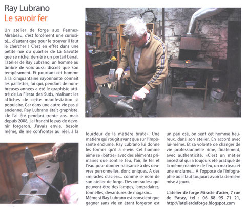 "Article journal ""Le Pennois fevrier 2011"