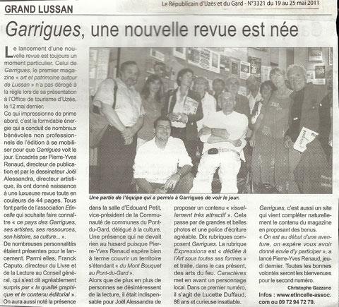 La presse et Garrigues..