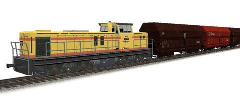 KHD DG1600 BBM Ruhrkohle AG 651 + DB Falns180