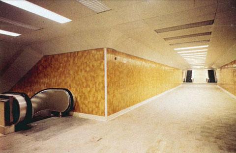 Pasido del anden Prosperidad al centro en sentido subida. Foto cedida por Dragados y Construcciones 1973