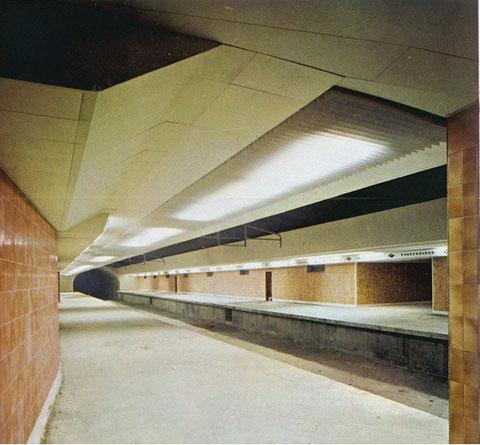 Estación de Prosperidad sentido centro de Madrid. Foto cedida por Dragados y Construciones 1973