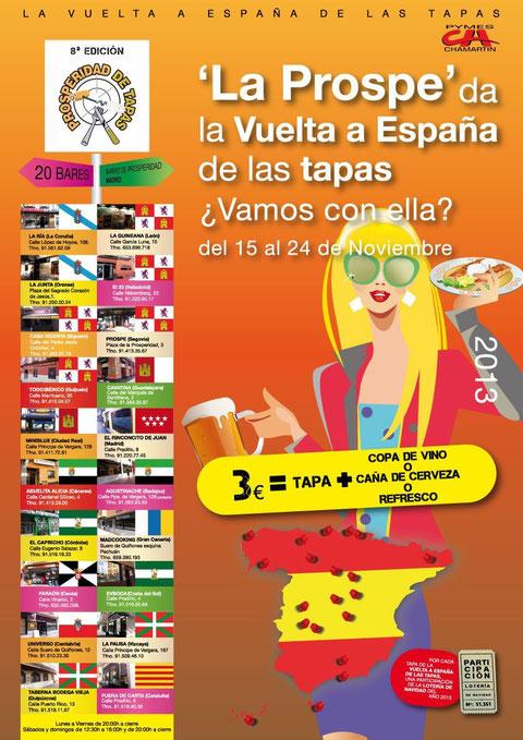 Cartel 2013 de Tapas por PROSPERIDAD