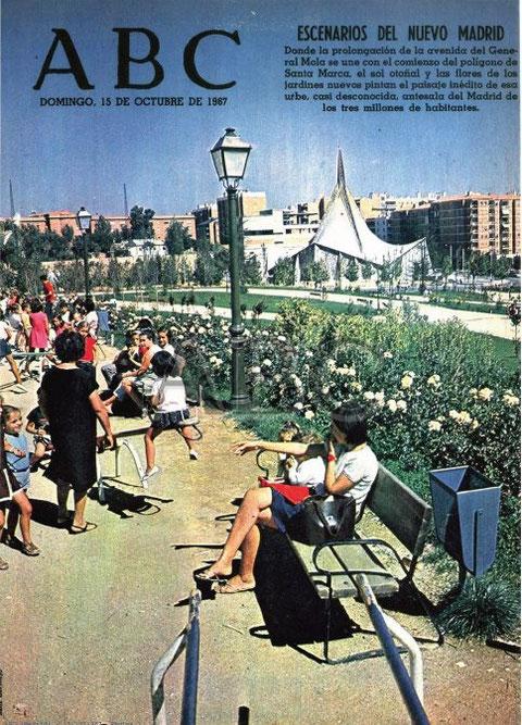 Parque de Berlín en el barrio de Prosperidad de Madrid el 15 de octubre de 1967,  antes de ser inaugurado