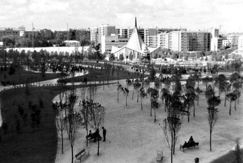 Parque de Berlín en 1967, año de su inauguración.