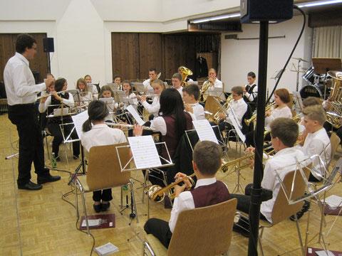 Die Jungmusikanten beim beim Konzert für den Musikunterstützungsverein 2014