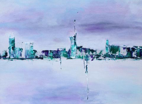 Abstract (2015) Fl. 0,80m x 0.60m  Acryl Spachtelarbeit auf Leinwandpappe