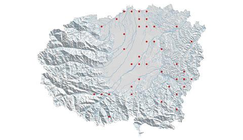 Platycnemis pennipes distribuzione al 2013 (maglia 5x5)