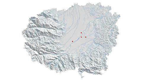 Coenagrion caerulescens distribuzione al 2013 (maglia 5x5)