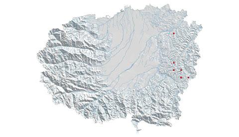 Somatochlora meridionalis distribuzione al 2013 (maglia 5x5)