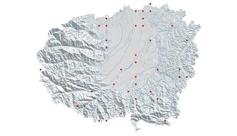 Coenagrion puella distribuzione al 2013 (maglia 5x5)