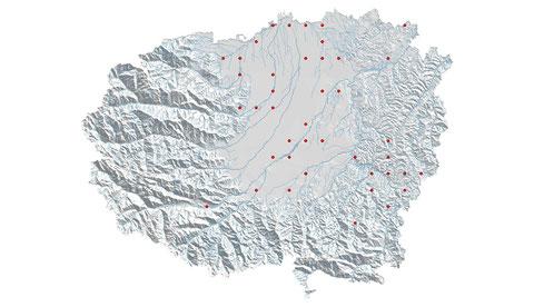 Calopteryx splendens distribuzione al 2013 (maglia 5x5)