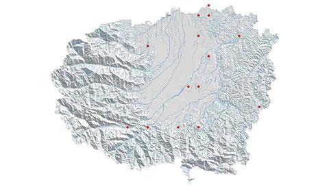 Lestes vires vestalis distribuzione al 2013 (maglia 5x5)