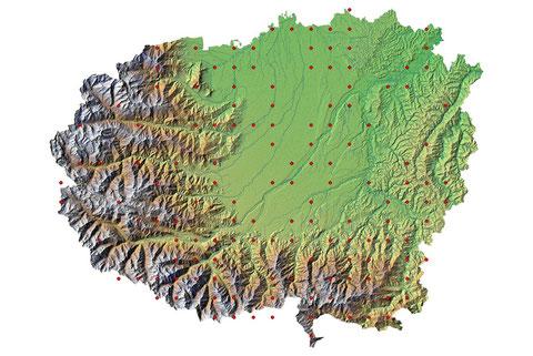 Copertura del territorio cuneese al 2013 (maglia 5x5 km)