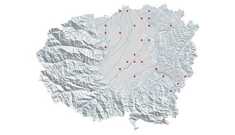 Orthetrum brunneum distribuzione al 2013 (maglia 5x5)