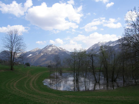 Uno dei due laghi (Foto P. Caroni)